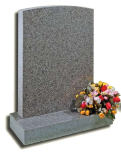 Small granite headstone